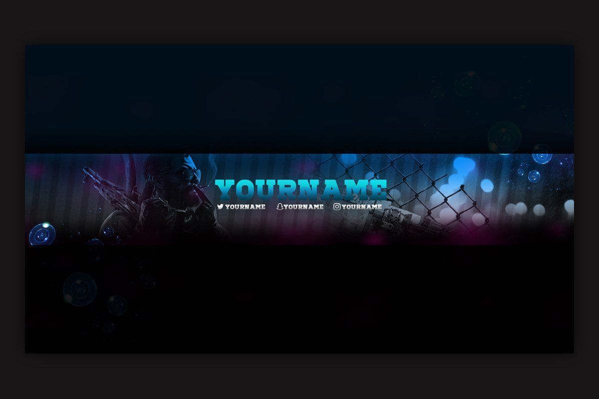 10 Gaming YouTube Banner Template by immenseart on Creative Market