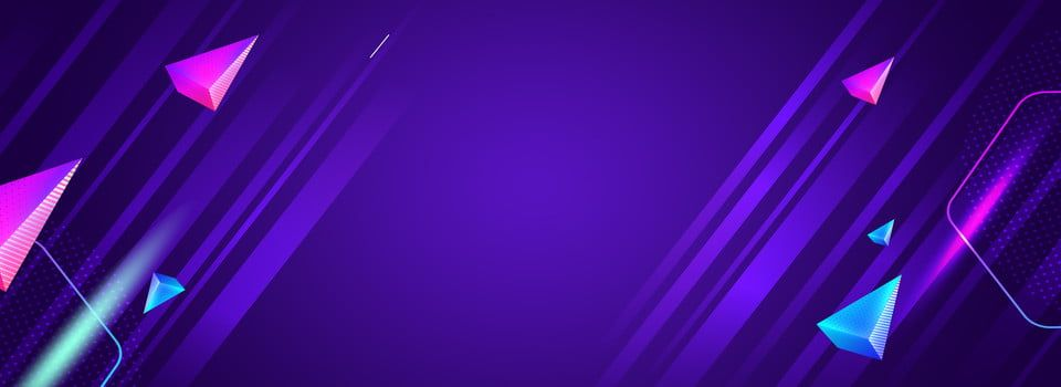 Colorful Triangle Blue Purple Banner Background