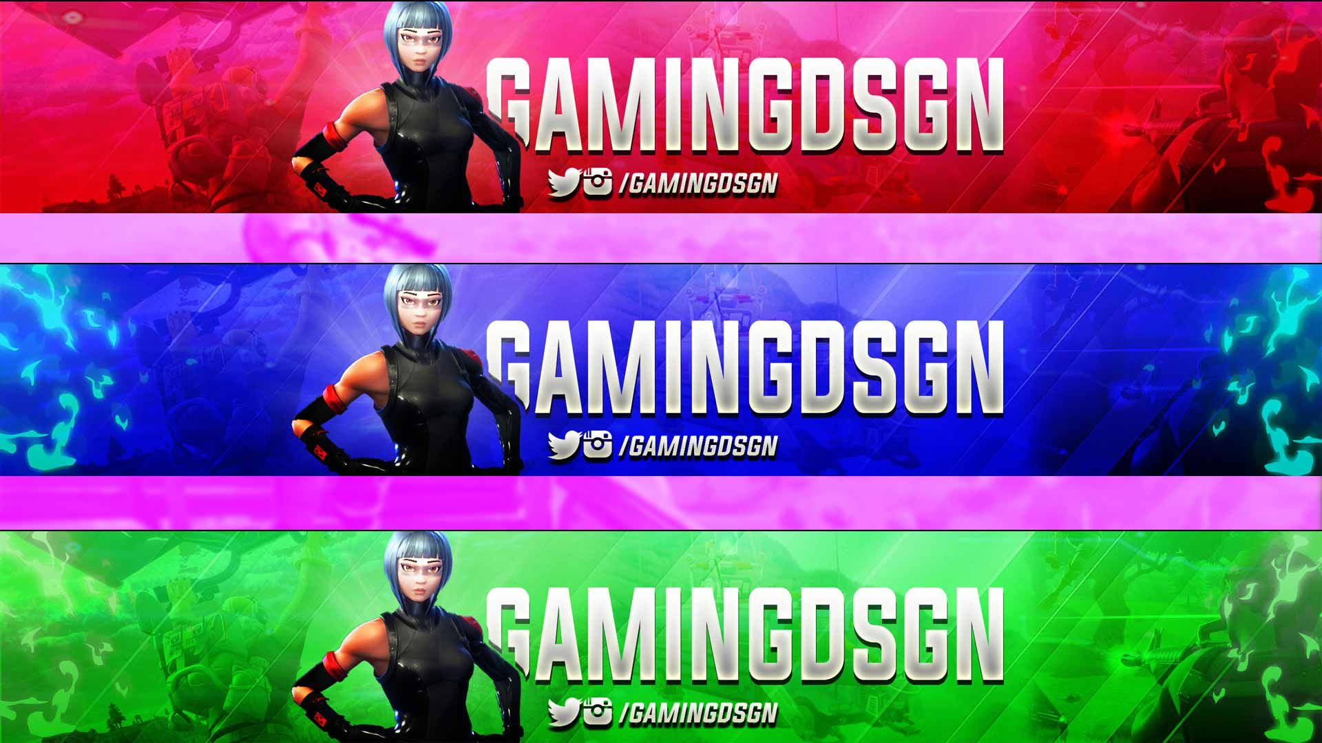 This Simplistic Fortnite Banner Is Great For Youtube Channel And