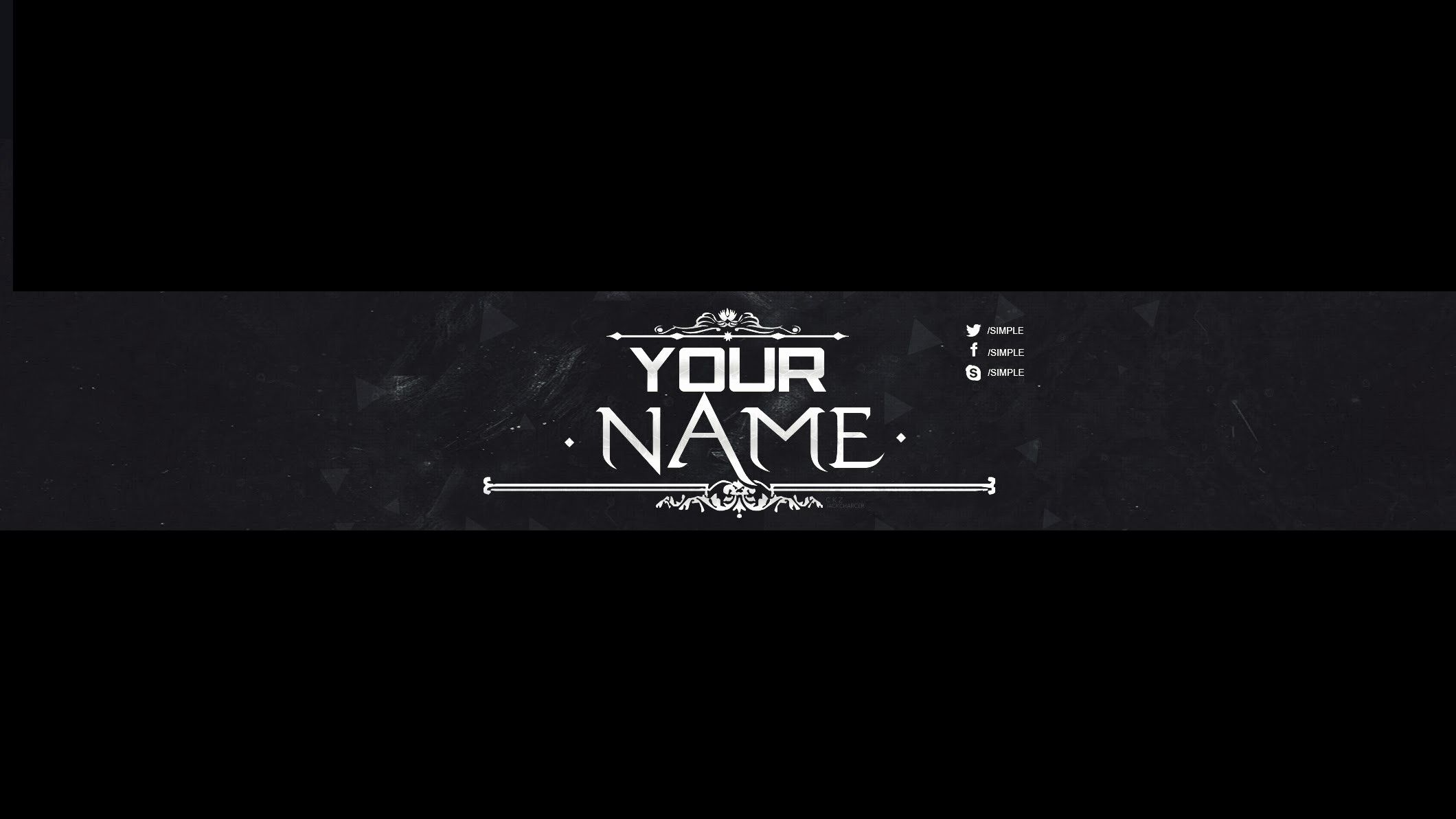 Youtube Banner Template Black 17 Outrageous Ideas For Your Youtube