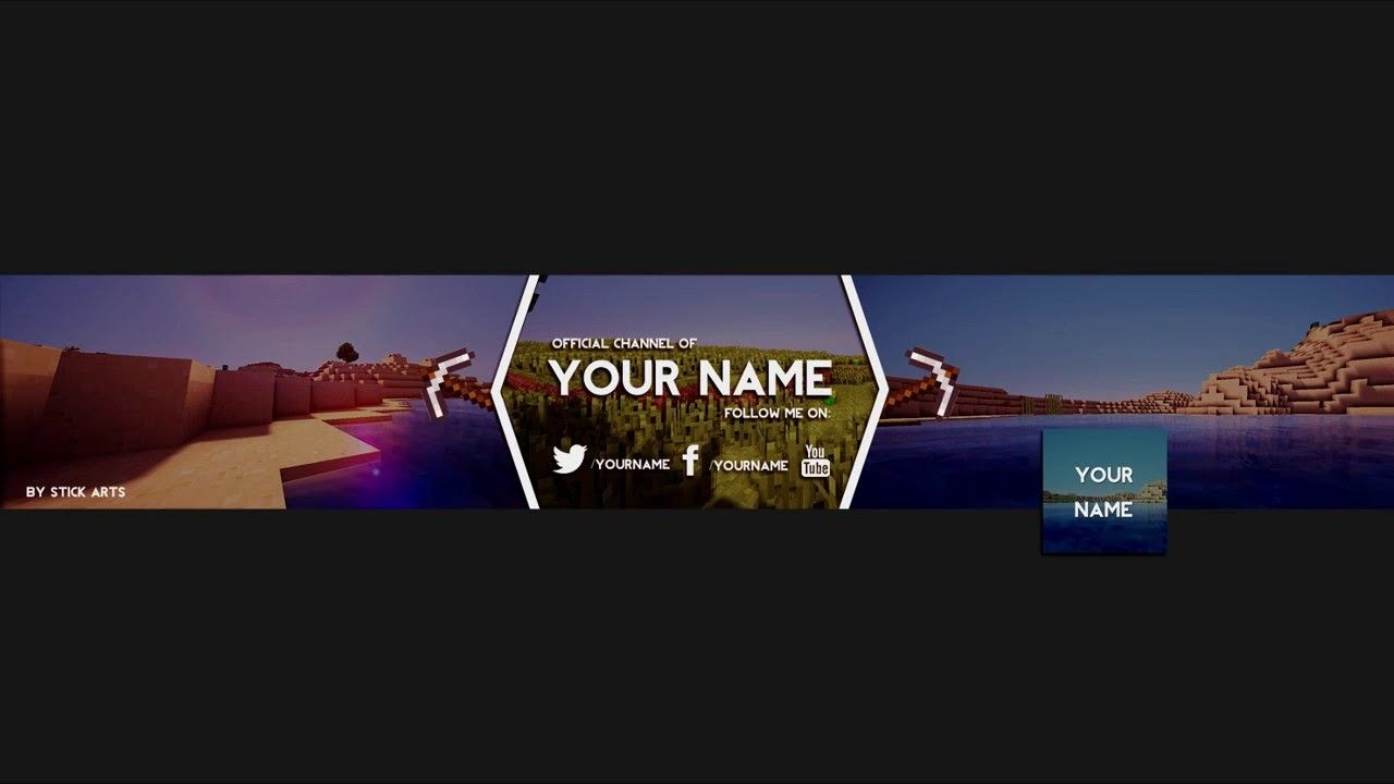 Youtube Banner Template Minecraft 12 Signs Youre In Love With
